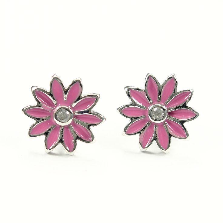 Kolczyki dla dzieci różowe kwiatuszki - http://www.bizutik.pl/kolczyki-dla-dzieci-rozowe-kwiatuszki
