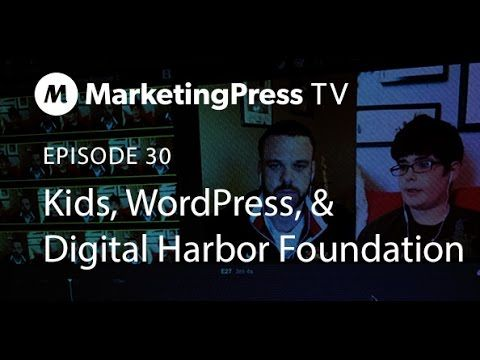 Kids, WordPress & The Digital Harbor Foundation : Episode 30 Marketing Press TV  I received a call from my sister letting me know that my 11 year old nephew built a WordPress site at a Kids Hackathon with the Digital Harbor Foundation in Baltimore, MD. This was exciting for many reasons, but I was really interested about his experience and learning more about Digital Harbor. I set up a time (early Saturday morning) and we did a quick interview for the show. #WordPress