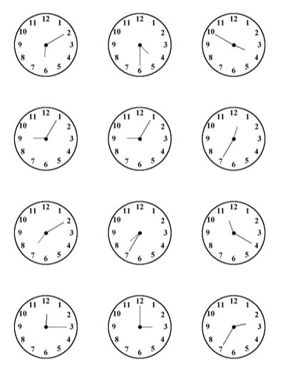 Time practice sheet for kids - All this.  Clock face  printables