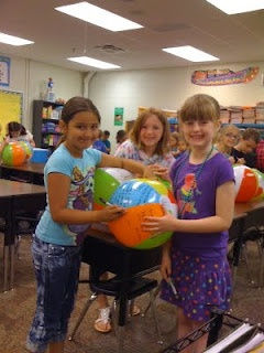 """Last Day of class activity--Each student gets a beach ball and a sharpie; a different way to do """"yearbooks"""""""