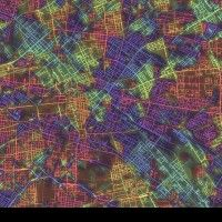 Crayon the grids tephen Von Worley ha editato una serie di mappe rileggendo alcune delle più note città del mondo secondo l'orientazione delle loro griglie. A ogni angolo direzionale della griglia, corrisponde un colore. Questa lettura delle città, che dà priorità alle maglie degli impianti stradali e alla circolazione, facilita la lettura dei diversi quartieri e delle diverse aree metropolitane, rendendone evidente la straordinaria dinamicità e varietà dei tessuti