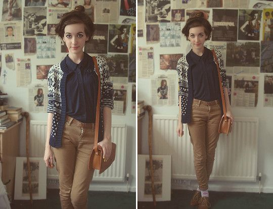 Cardigan From Primark, Shirt From Topshop, Trousers From Topshop