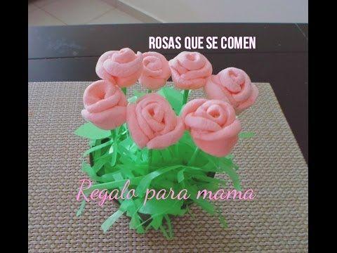REGALO PARA EL DÍA DE LAS MADRES O SAN VALENTIN | ROSAS DE BOMBON. - YouTube