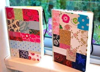 Paper Patchwork Covered Notebook