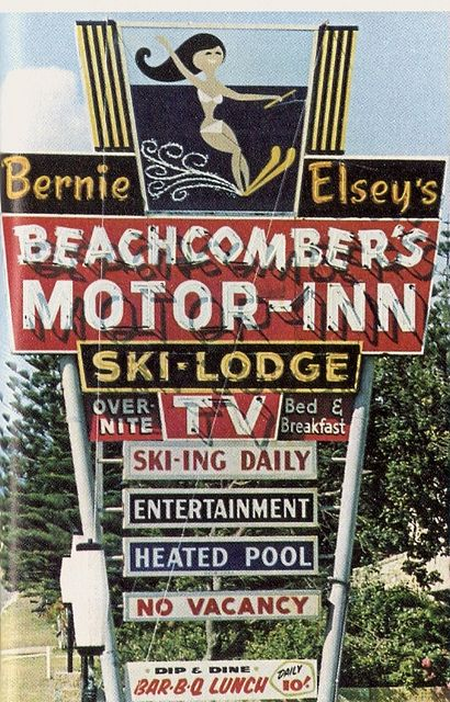 "Bernie Elsey's Beachcomber Motor Inn, Gold Coast, QLD  c late 1960s.From ""The Australians"" by R.B Goodman and George Johnston."