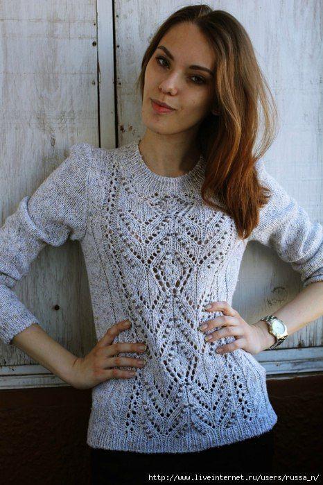 Пуловер с центральным узором. Обсуждение на LiveInternet - Российский Сервис Онлайн-Дневников