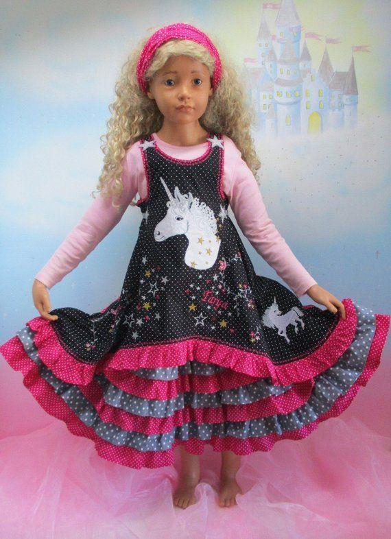 Kleid einhorn 128