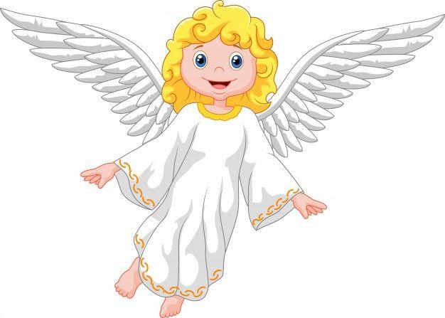 Angel De Dibujos Animados Aislado Sobre Premium Vector Freepik Vector Fondo Navidad Personas Amor Dibujos Dibujos Animados Angeles Volando