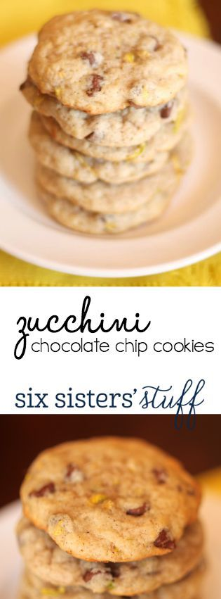 Delicious Chocolate Chip Zucchini Cookies Recipe from SixSistersStuff.com