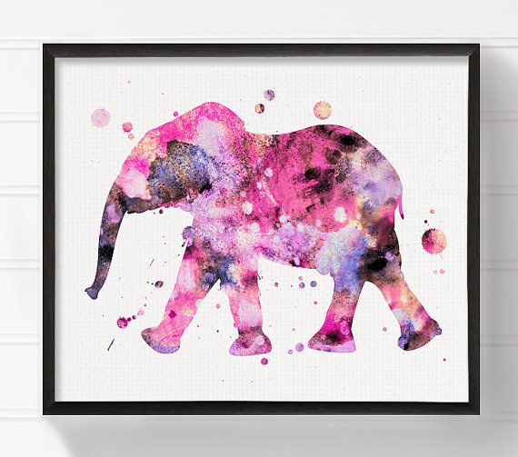 Hey, I found this really awesome Etsy listing at https://www.etsy.com/listing/236058045/elephant-art-watercolor-elephant