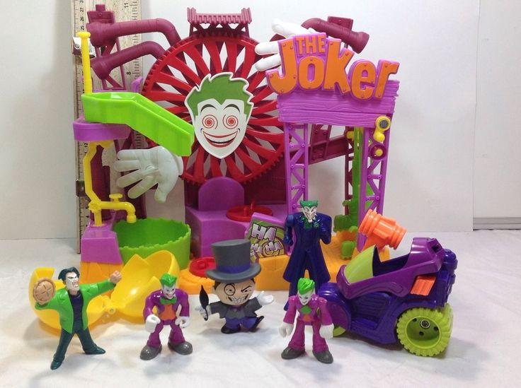 Imaginext Joker Funhouse Play Set 2014 Mattel Hammer Car Lot Penguin Funko | eBay