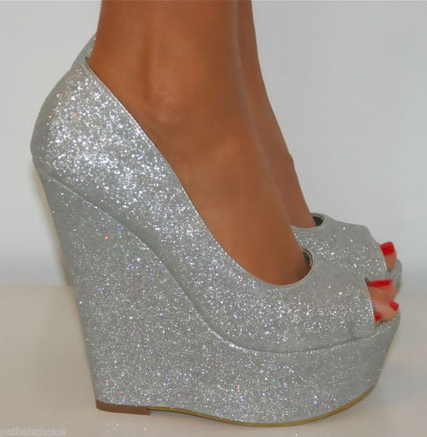 Amazing Silver Prom Wedges Shoes Trends