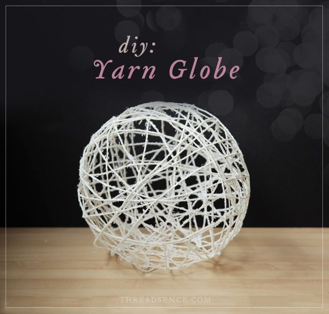 #DIY Yarn Globe - the perfect outdoor decoration.