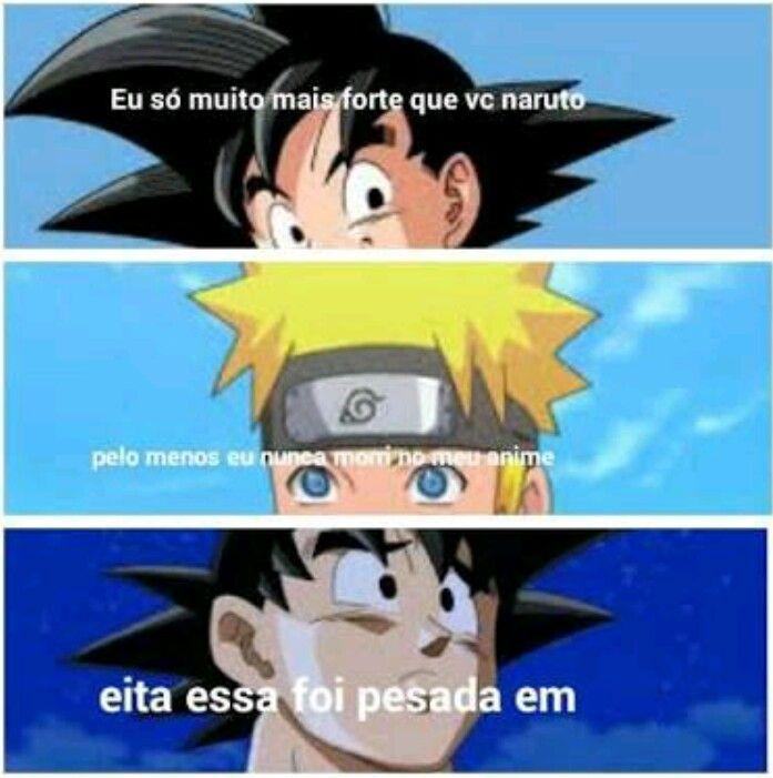 Na Verdade Ele Morreu Quando Ele Perdeu A Raposa Ele Foi Praticamente Revivido Memes Engracados Naruto Memes De Anime Memes Engracados