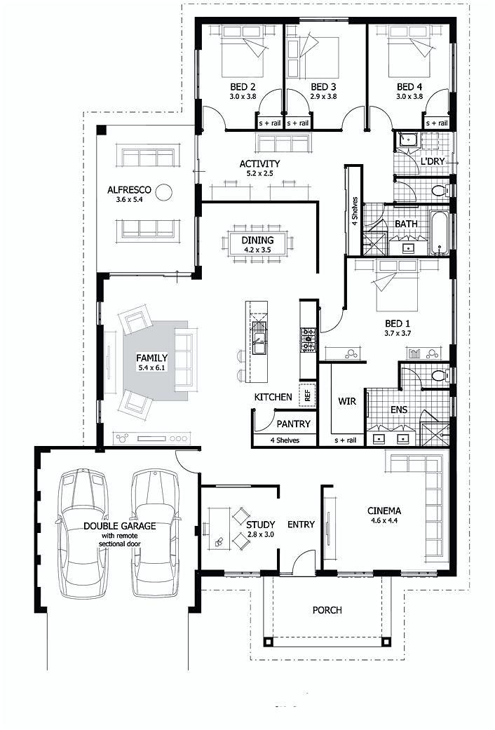 4 Bedroom Floor Plans Bedroom Haus Grundriss Haus Bungalow
