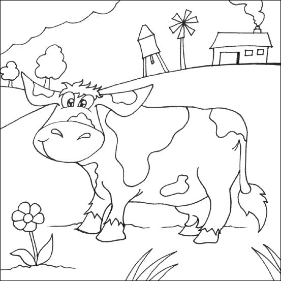 farm animals coloring pages for kids printable - Barns Coloring Pages Farm Silos