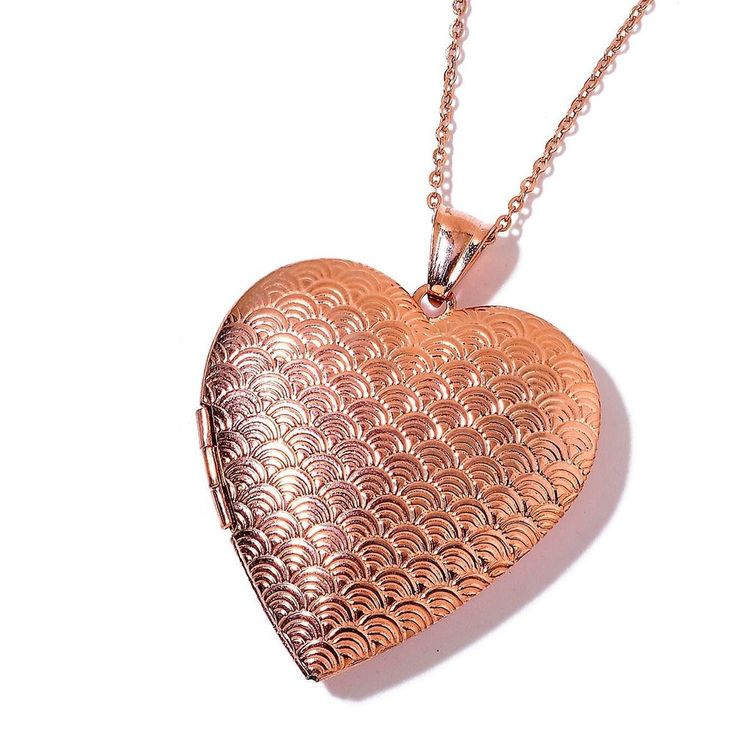 Rose Gold Stainless Steel Locket with 24 in chain locket design  2 inches #Unbranded #Pendant