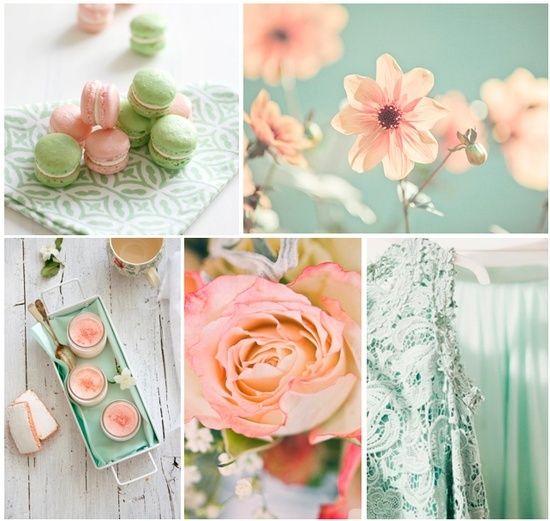 Mariage couleur blanc vert rose pale recherche google - Couleur rose pale ...