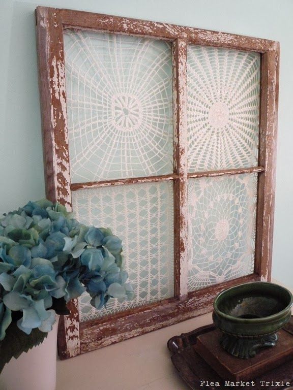 Great collection of ideas to upcycle all those doilies around the house!