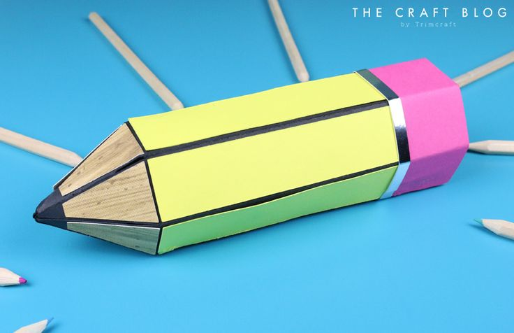 Teacher Pencil Gift Box Tutorial wi... | The Craft Blog