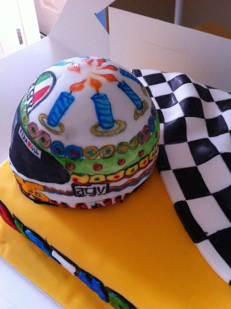 Valentino Rossi Helmet Cake Valentino Rossi Birthday