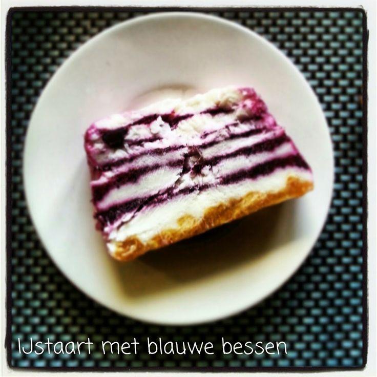 Bosbessen-ijstaart, echt een fantastisch dessert!