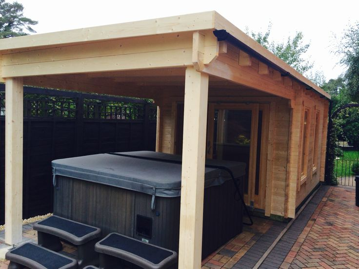 Affordable Pent Roofed Garden Building Large Canopy For