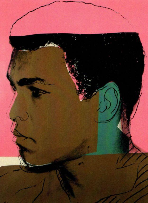'Muhammad Ali' (1978) by American artist Andy Warhol (1928-1987). Screenprint, edition of 150, 40 x 30 in. via artnet