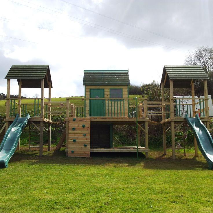 Wooden climbing frames | garden play equipment | Custom playhouses | climbing frames for children