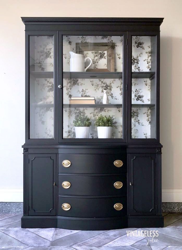 Lamp Black China Cabinet | General Finishes Design Center