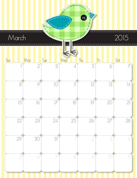 Free Cute Calendar Templates Images Template Design Free Download