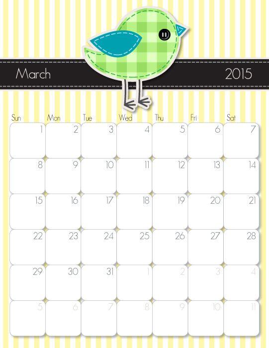 Printable Calendar March 2016