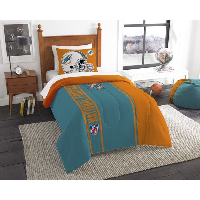 Start Tab Description Super Cozy And Soft This Miami Dolphins Nfl Twin Comforter Set Will Make You Never Want To Get Out Of Bed