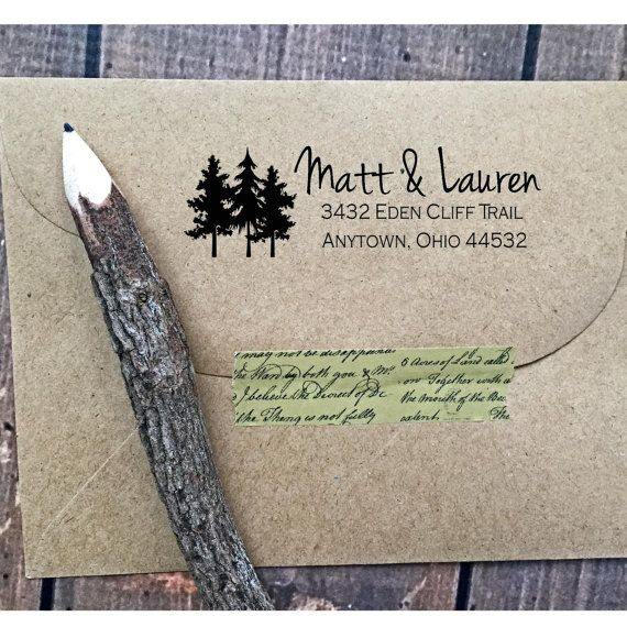 Tree Address StampCustom address stampTree by LittlebeaneBoutique