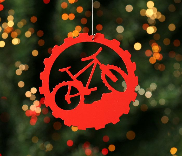 Mountain Bike Red Bicycle Christmas Tree Ornament 6 50 Via Etsy Pinterest And Road