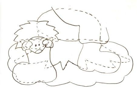 Gabarit 2 - Lutin et hérisson malicieux