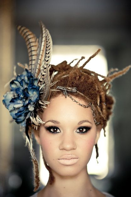 Freestyle baby locs! Love that headpiece. http://www.katerosecrean.ie/make-up-galleries/a-porcelain-tale-shane-o-neill/