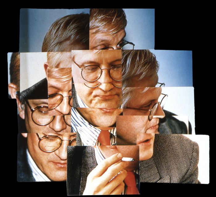 """joiners"" - Creative Polaroid Collages by David Hockney..this one is a self portrait"