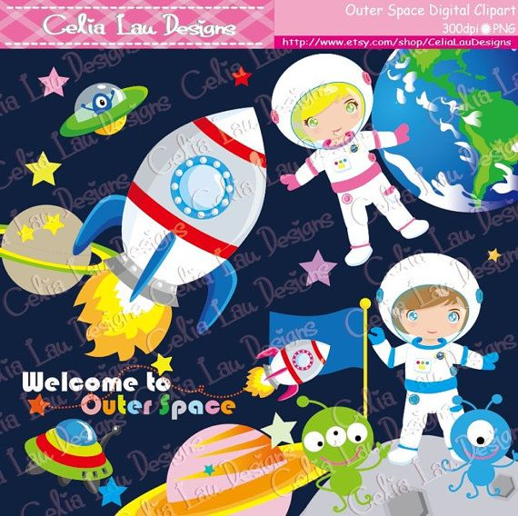 Outer space clipart astronauts clipart ufo alien for Outer space industrial design