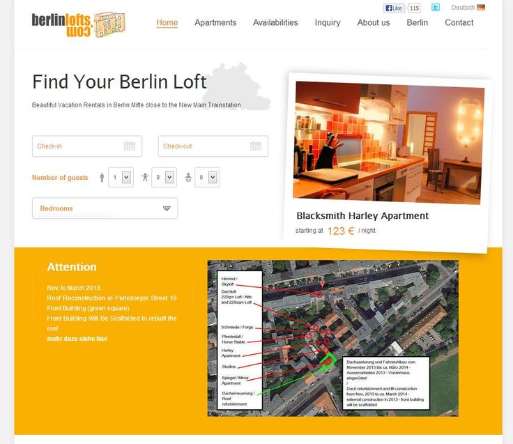 Each Week Kigo Showcases Vacation Rental Website Samples. This Week We Look  Indepth At The Website And Reservation System Of BERLINLOFTS.