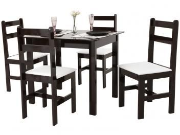 Conjunto de Mesa com 4 Cadeiras Milão - Fritz Móveis APENAS R$ 229,90