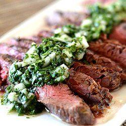 Skirt Steak with Cilantro Chimichurri Sauce | Recipe | Skirt Steak ...
