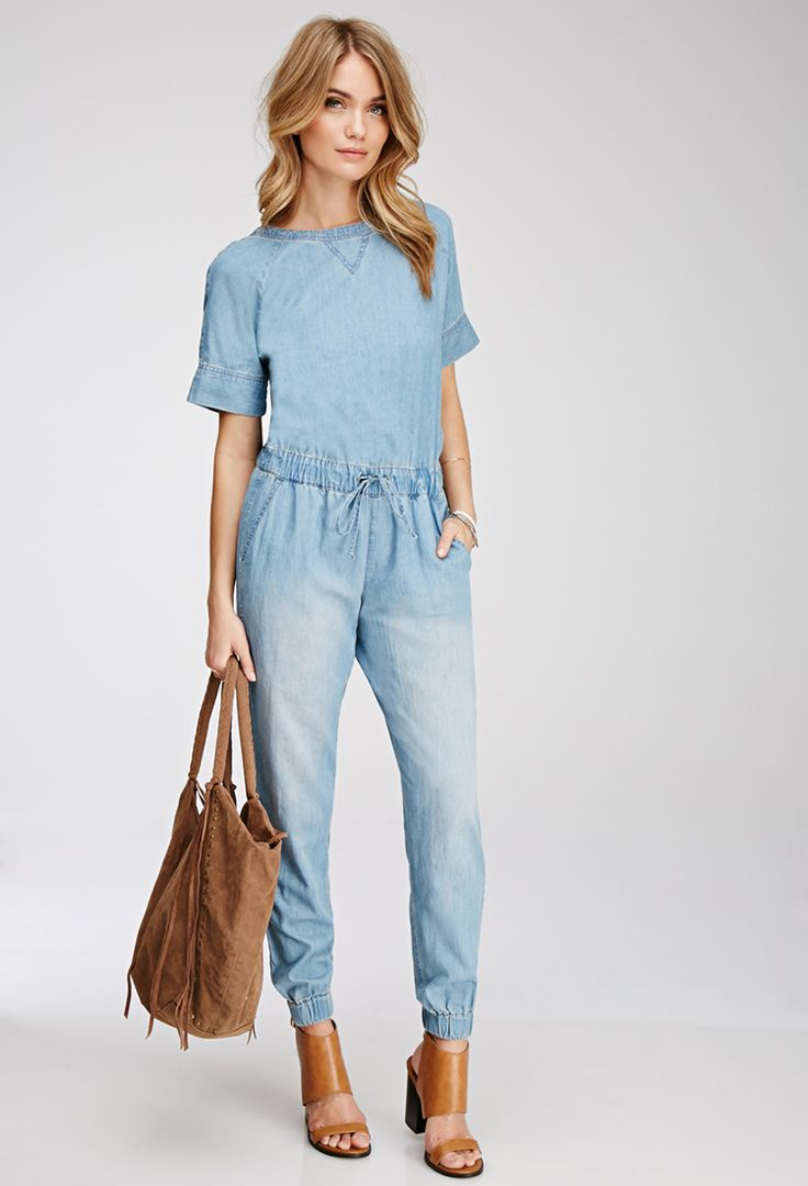 Best 25  Denim jumpsuit ideas on Pinterest | Jeans jumpsuit ...