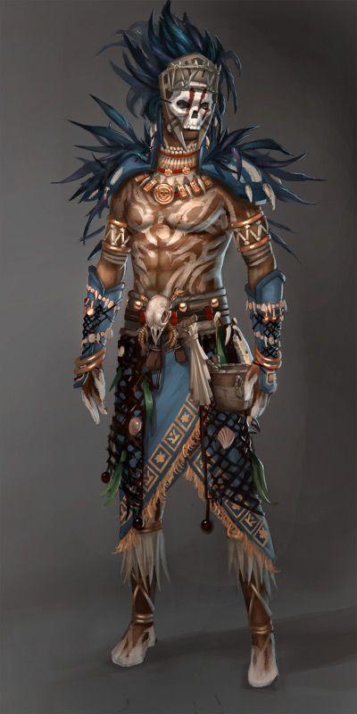 Guild Wars 2: Voodoo Male by ~YeeWu on deviantART