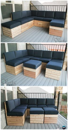 DIY Modular Outdoor Seating Free Plan Instructions - DIY Outdoor Patio Furniture Ideas