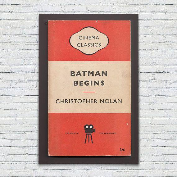 BATMAN BEGINS Movie Poster Christopher by EncoreDesignStudios