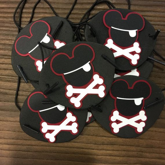 12 pansements oculaires de Mickey Mouse Pirate par TheTinyToppery