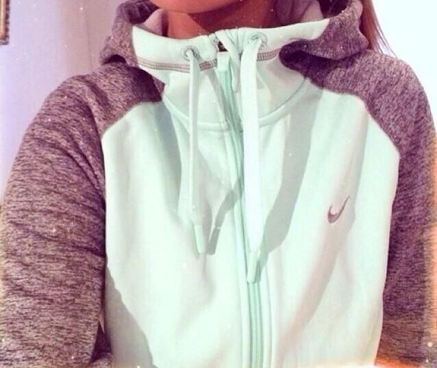 mint & grey nike zip up