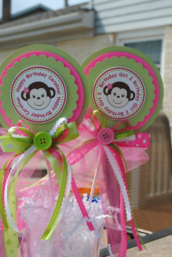 Best pink and green mod monkey party images on