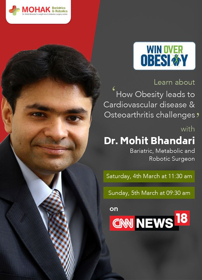 https://flic.kr/p/S4nCUw | Dr. Mohit Bhandari going live on CNN 1 | Do you want to #WinOverObesity?  Watch Dr. Mohit Bhandari on CNN live and get answers to all your questions related to obesity, bariatric surgery and benefits of bariatric surgery on cardiovascular diseases and osteoarthritis challenges related to obesity. You can also watch him on Facebook Live at the same time. Stay tuned and stay healthy.